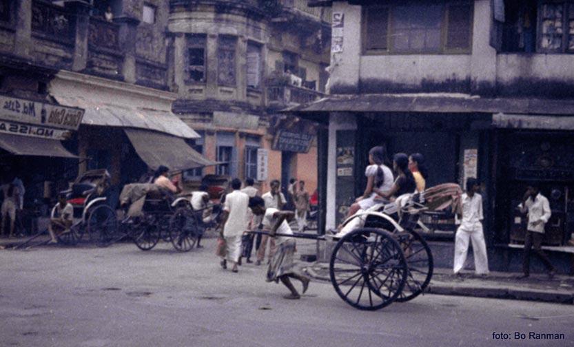 Rickshaw i Calcutta