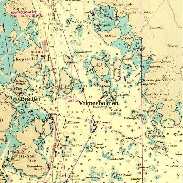 Valmesbolmen på sjökortet